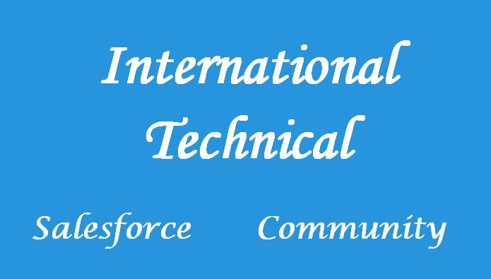 Salesforce International Technical Community